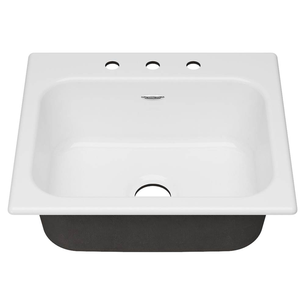 American Standard Drop In Double Bowl Sink Kitchen Sinks item 77SB25223.308