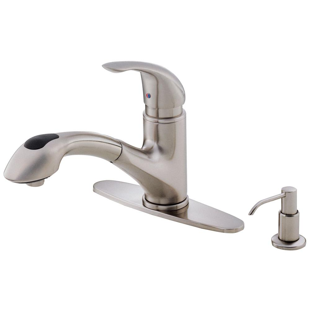danze foodie faucet faucets en handle kitchen pre down product caliente pull rinse b foodiecaliente single