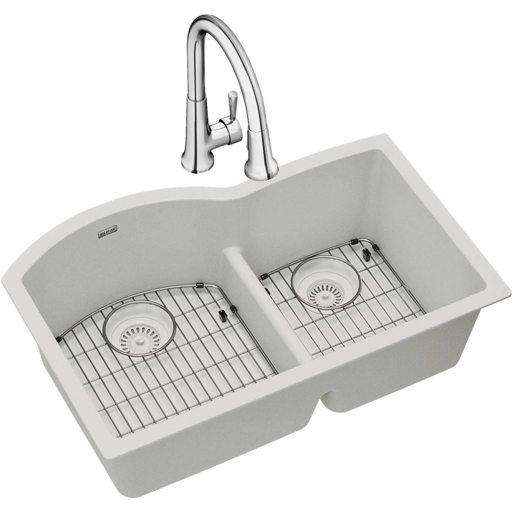 Elkay Undermount Kitchen Sink And Faucet Combos item ELGHU3322RWH0FC