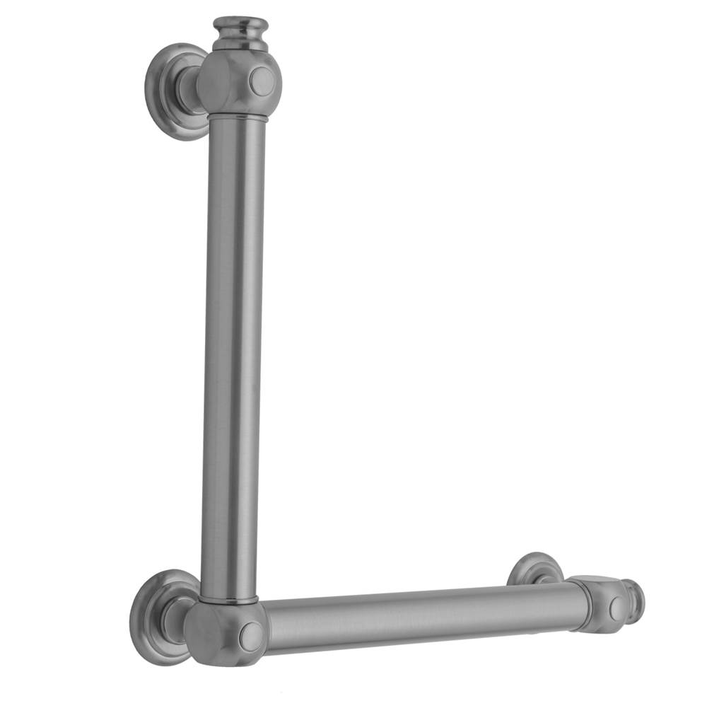 Jaclo Grab Bars Shower Accessories item G60-16H-24W-RH-WH