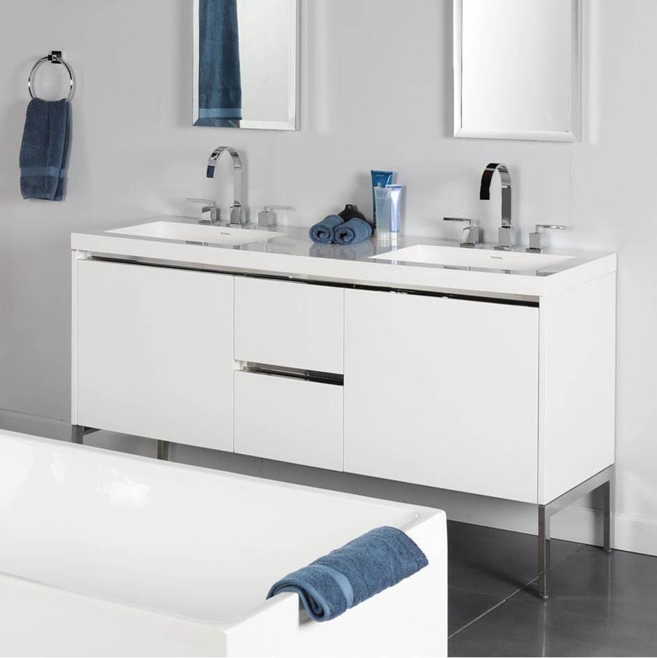 Lacava Wall Mount Vanities Double Sink item KUB-W-60-08