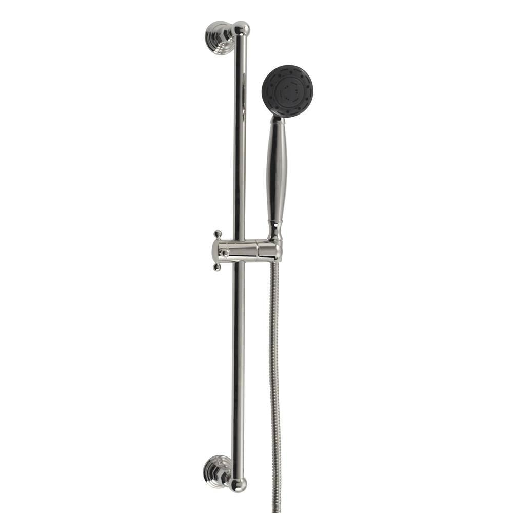 Jaclo 7124-AB Retro Handshower Slide Bar with Lever Handle 24 Antique Brass 24 Standard Plumbing Supply
