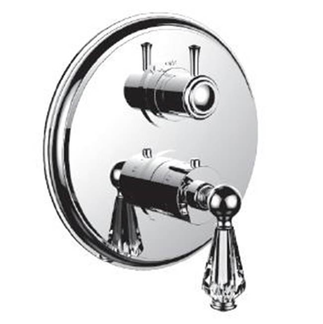Santec Thermostatic Valve Trims With Integrated Diverter Shower Faucet Trims item 7096EC75-TM