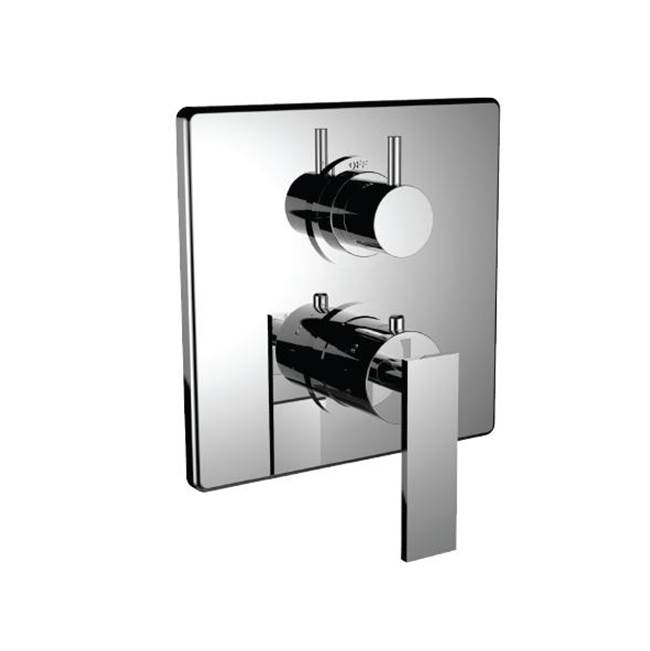 Santec Thermostatic Valve Trims With Integrated Diverter Shower Faucet Trims item 7096EM24-TM
