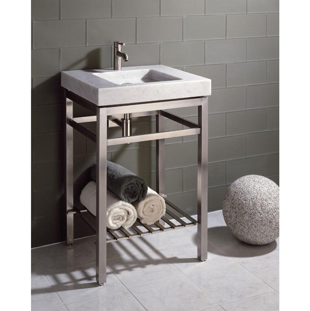 Stone Forest Floor Standing Bathroom Sinks item IVG-24 HB