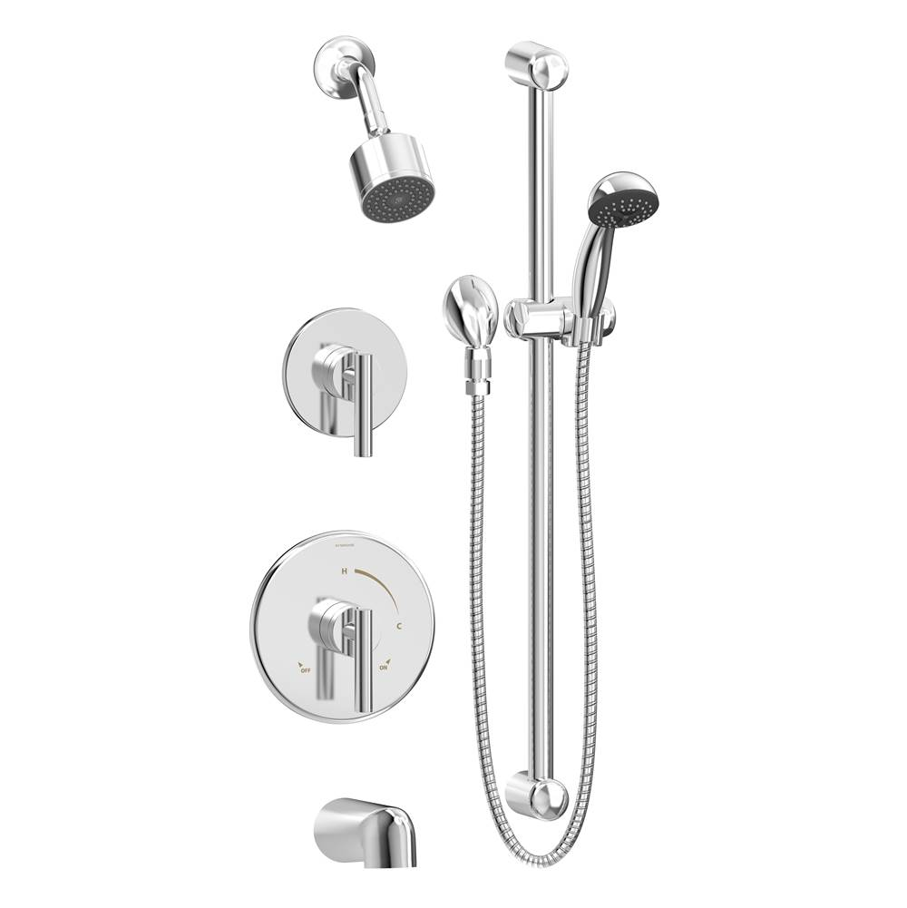 Symmons Complete Systems Shower Systems item 3506-H321-V-CYL-B-TRM