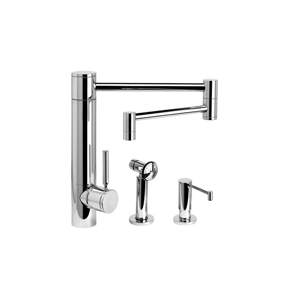 Waterstone Single Hole Kitchen Faucets item 3600-18-2-SN